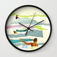 Sun and Surf Wall Clock