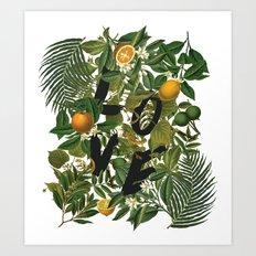 True Love (Oranges) Art Print