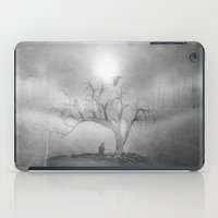 Black And White - Blue S… iPad Case