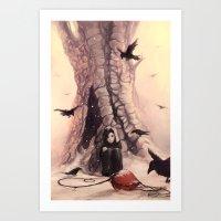 Feeding the Crows Art Print