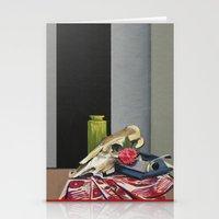 Skull and Typewriter Stationery Cards