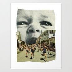 Young Hunger. Art Print