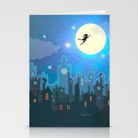 peter pan Stationery Cards featuring Peter Pan by MagzArt