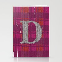 Winter clothes. Letter D. Stationery Cards