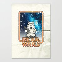 Bear Wars Vintage - Bear Trooper Canvas Print