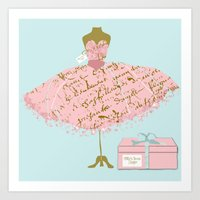 Milly's Dress Shop Art Print