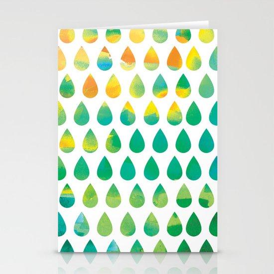 Monsoon Rain Stationery Card