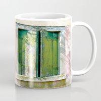 Old green window Mug