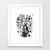 The Great Horse Race! B&… Framed Art Print