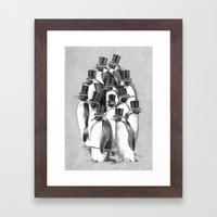 A Gathering of Gentlemen Framed Art Print