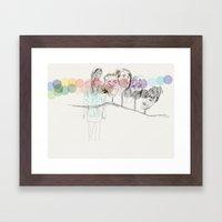 Dots Framed Art Print