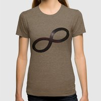 Infinty and Beyond Womens Fitted Tee Tri-Coffee SMALL