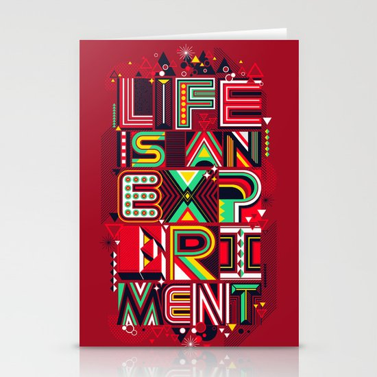 Life is an Experiment Stationery Card
