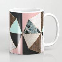 Rose Gold Hexagon Pattern Mug