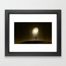Moon Play Framed Art Print