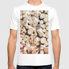 Firewood Mens Fitted Tee White SMALL