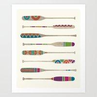 Funky Paddles Art Print