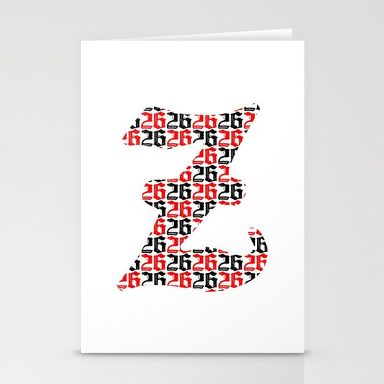 The 26th Letter Stationery Card