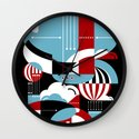 Zeppelins and Balloons Wall Clock