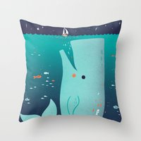 Jonah And The Whale Throw Pillow