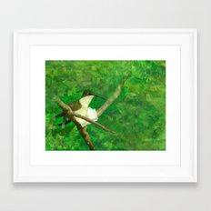 resting wings Framed Art Print