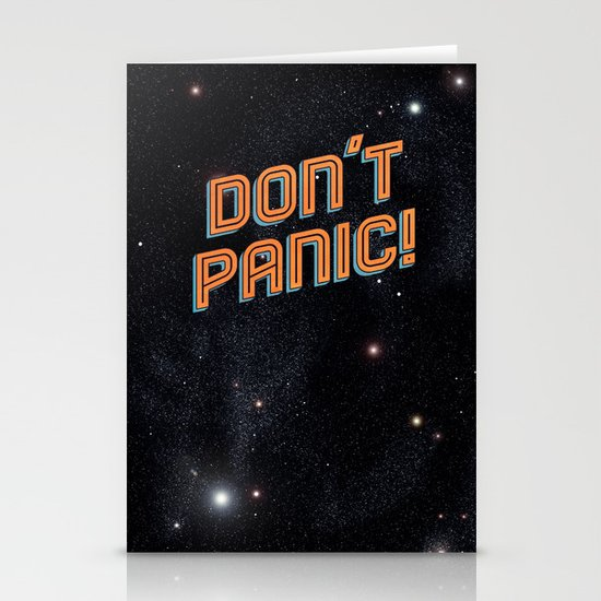Don't Panic Stationery Card
