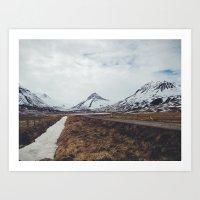 ísland Art Print
