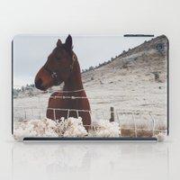 Snowy Horse iPad Case
