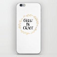 Grow In Grace iPhone & iPod Skin