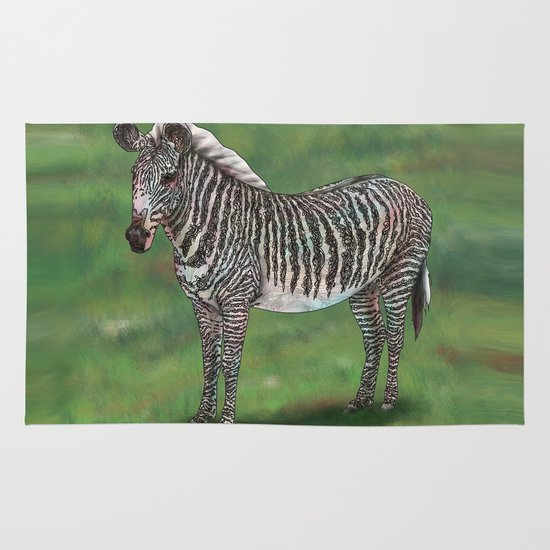 Zebra Area & Throw Rug