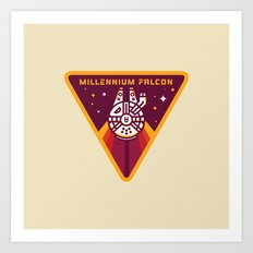 Millennium Falcon YT-1300  Pilot Patch Art Print