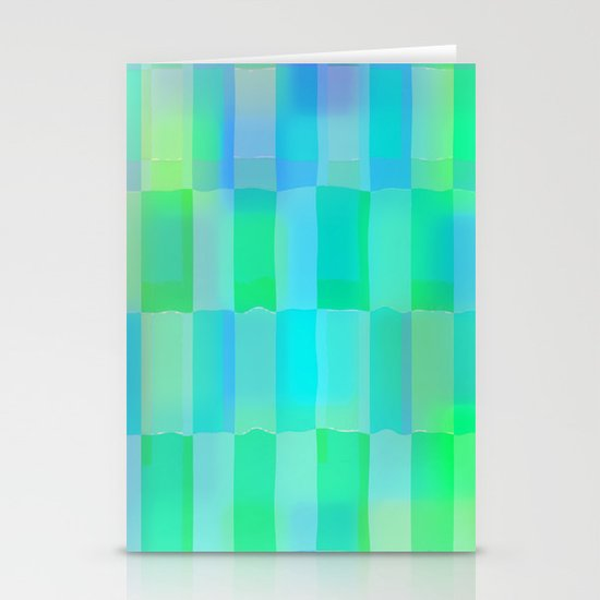 Aqua Pattern Stationery Card