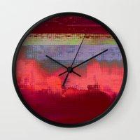 14-42-41 (City Glitch) Wall Clock