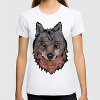 Wolf Mother Womens Fitted Tee Ash Grey SMALL