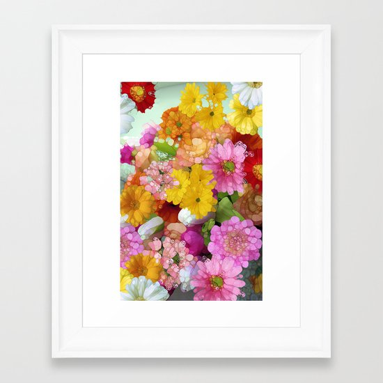 May the Flowers Be With You Framed Art Print