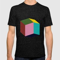 Rhombic Mens Fitted Tee Tri-Black SMALL