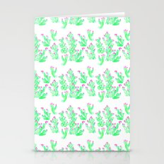 Prickly Pear Spring - Wh… Stationery Cards