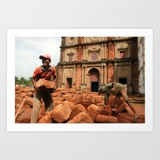 Brickwork Art Print