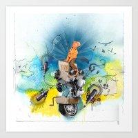 MINGA x Pop Lock it Polka Art Print