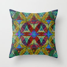 The Flower of Life (Sacred Geometry) Throw Pillow