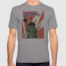 Daleks To Victory - Doct… Mens Fitted Tee Athletic Grey SMALL