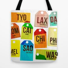 Travel Tags Tote Bag