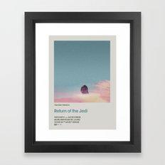Retro Cinema Poster:Re… Framed Art Print