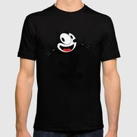 Felix The Cat  Mens Fitted Tee Black SMALL