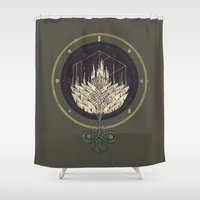 Fading Dahlia Shower Curtain