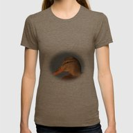 Female Duck Portrait Womens Fitted Tee Tri-Coffee SMALL
