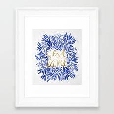 That's Life – Gold & Blue Framed Art Print