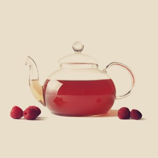 Raspberry Tea (Retro and Vintage Still Life Photography) Art Print