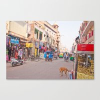 India New Delhi Pahargan… Canvas Print