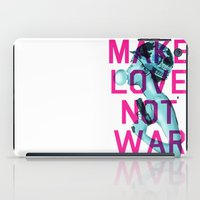 Make Love Not War iPad Case